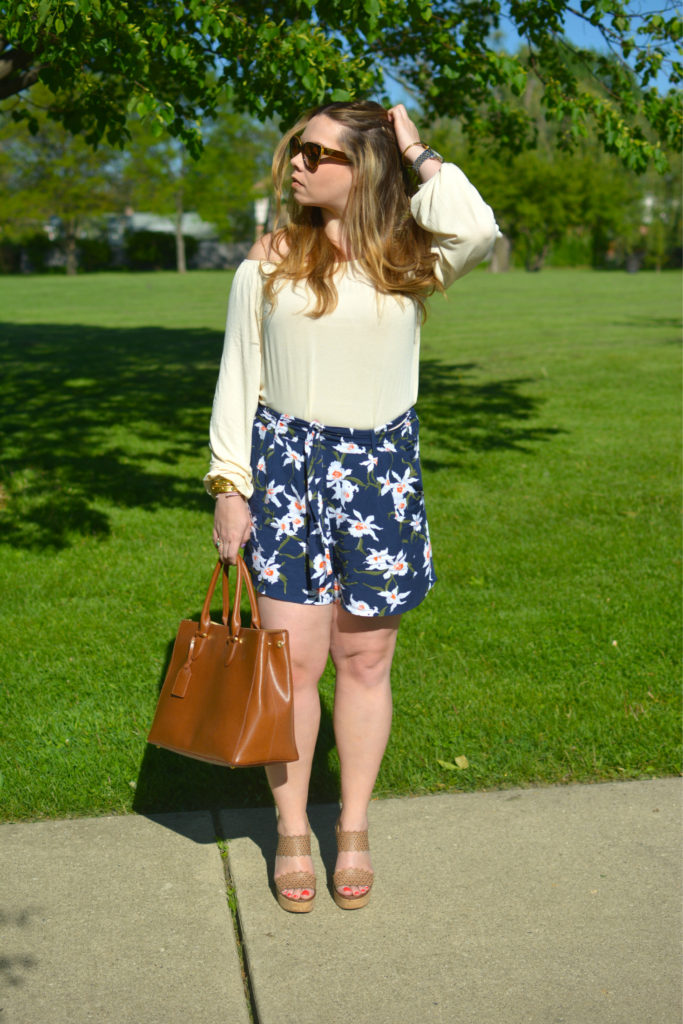 high waisted floral shorts 4
