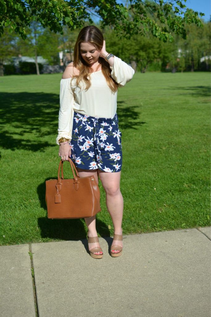 high waisted floral shorts 6