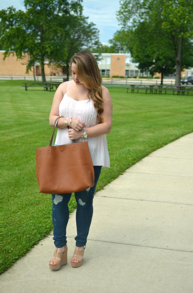 light pink pleated maxi top 4