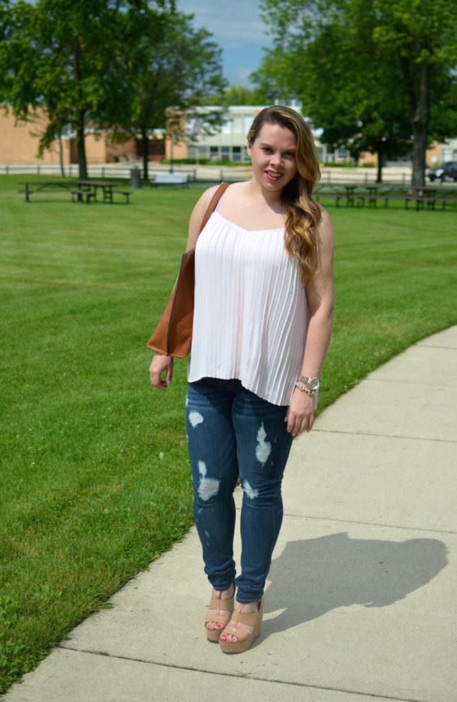 light pink pleated maxi top 5