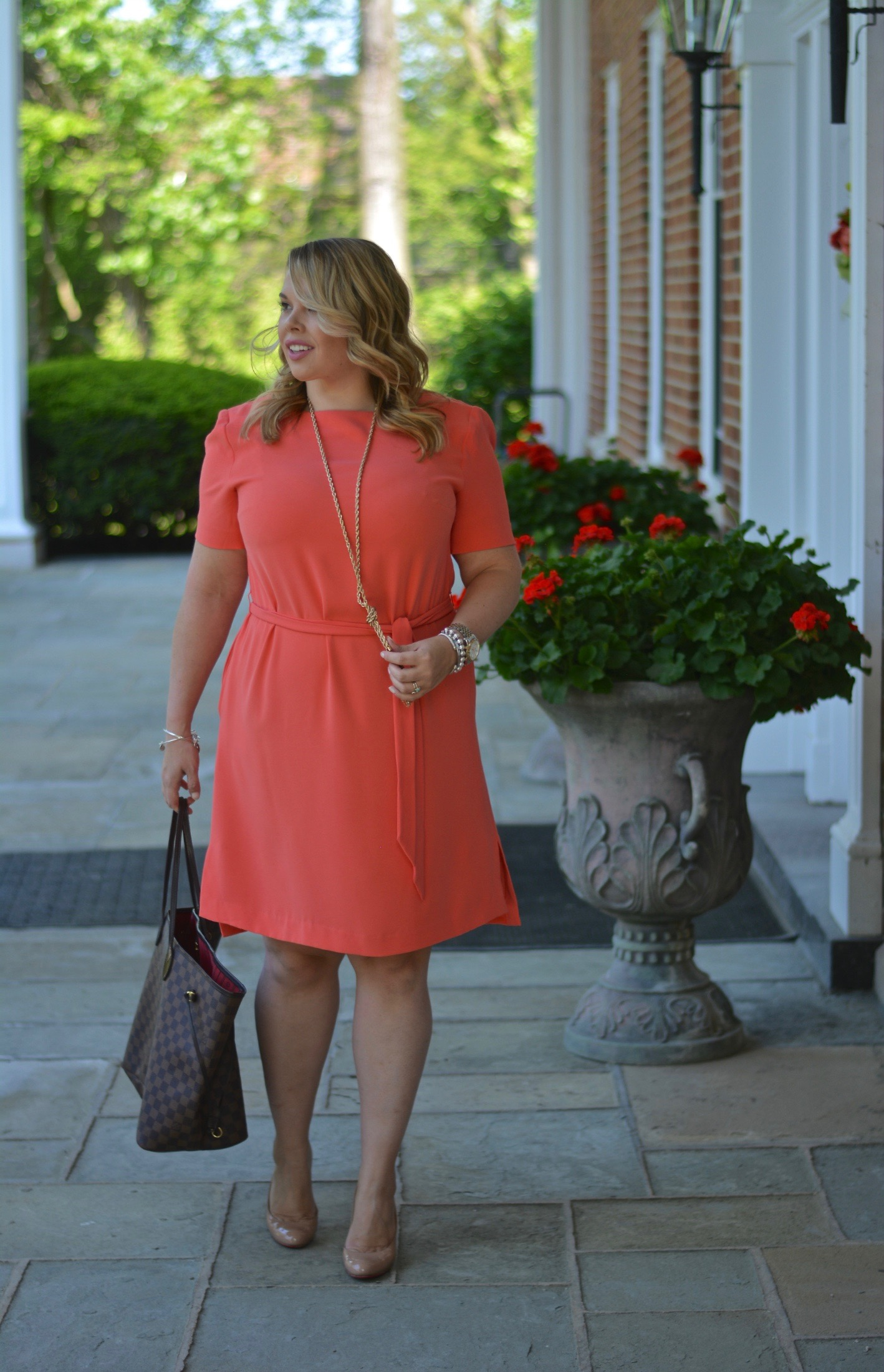 workwear wednesday- belted dress 3