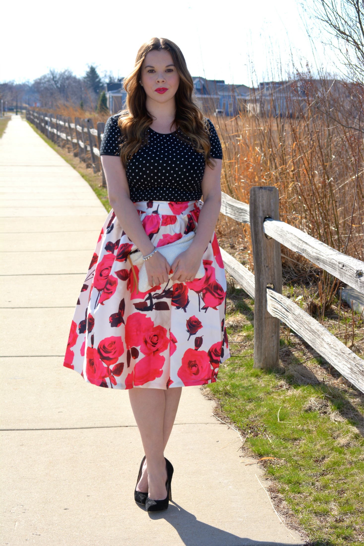Floral Midi Skirt, Three Ways