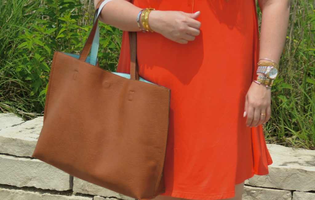 orange swing dress 2