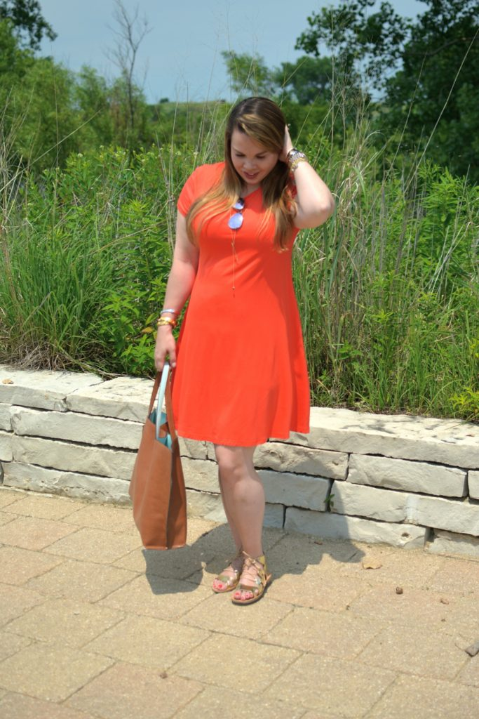 orange swing dress 5