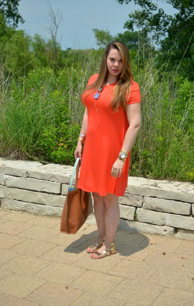 orange swing dress 6