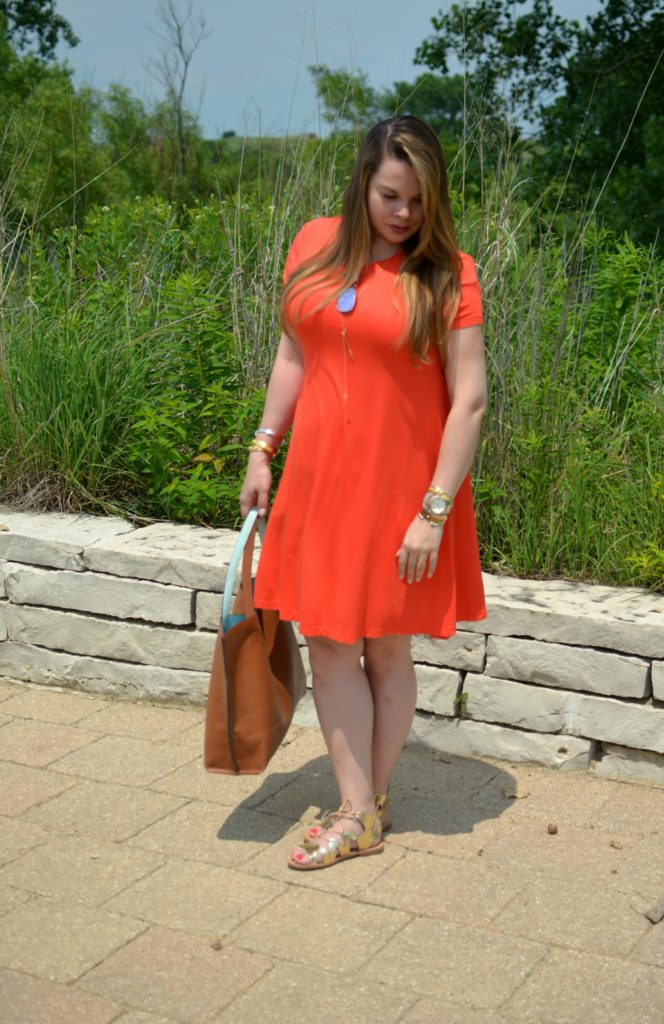 orange swing dress 7
