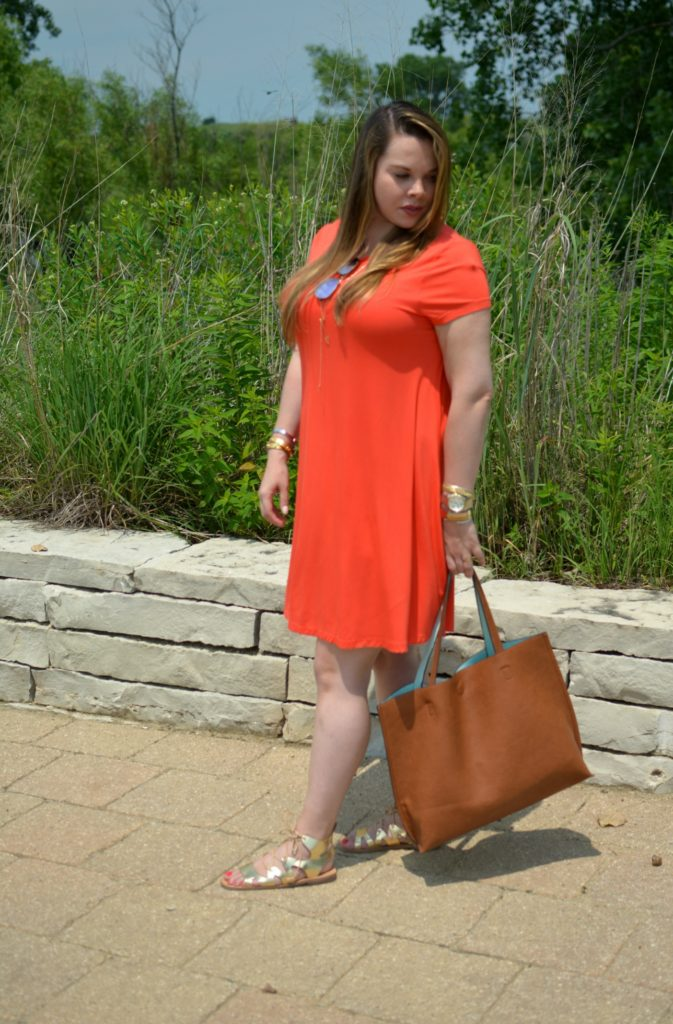 orange swing dress 8