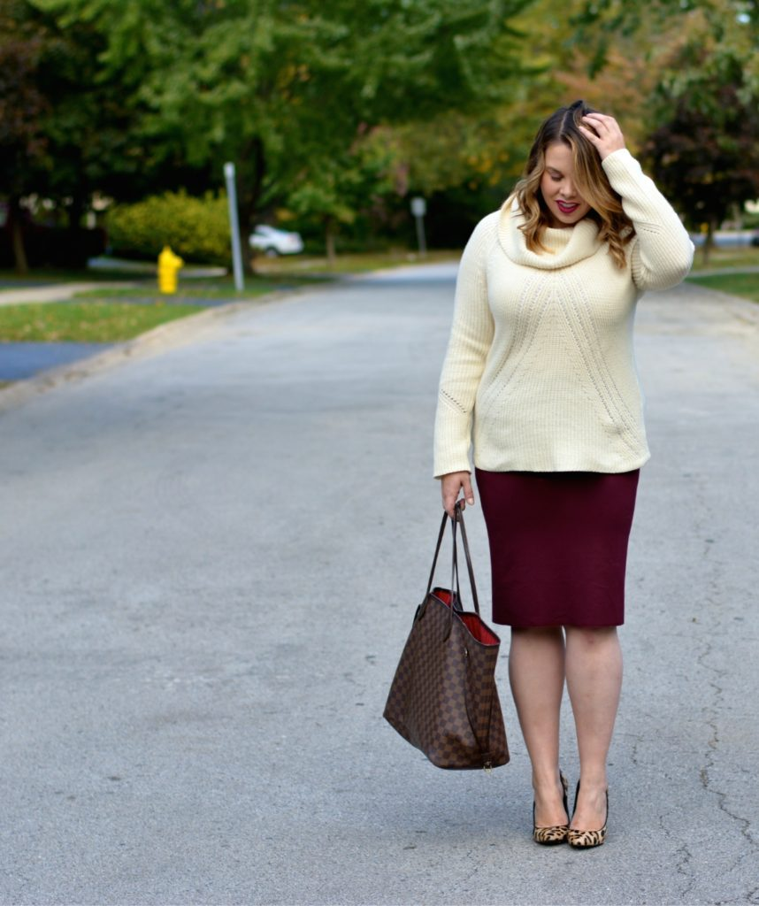 workwear wednesday- turtleneck & skirt 3