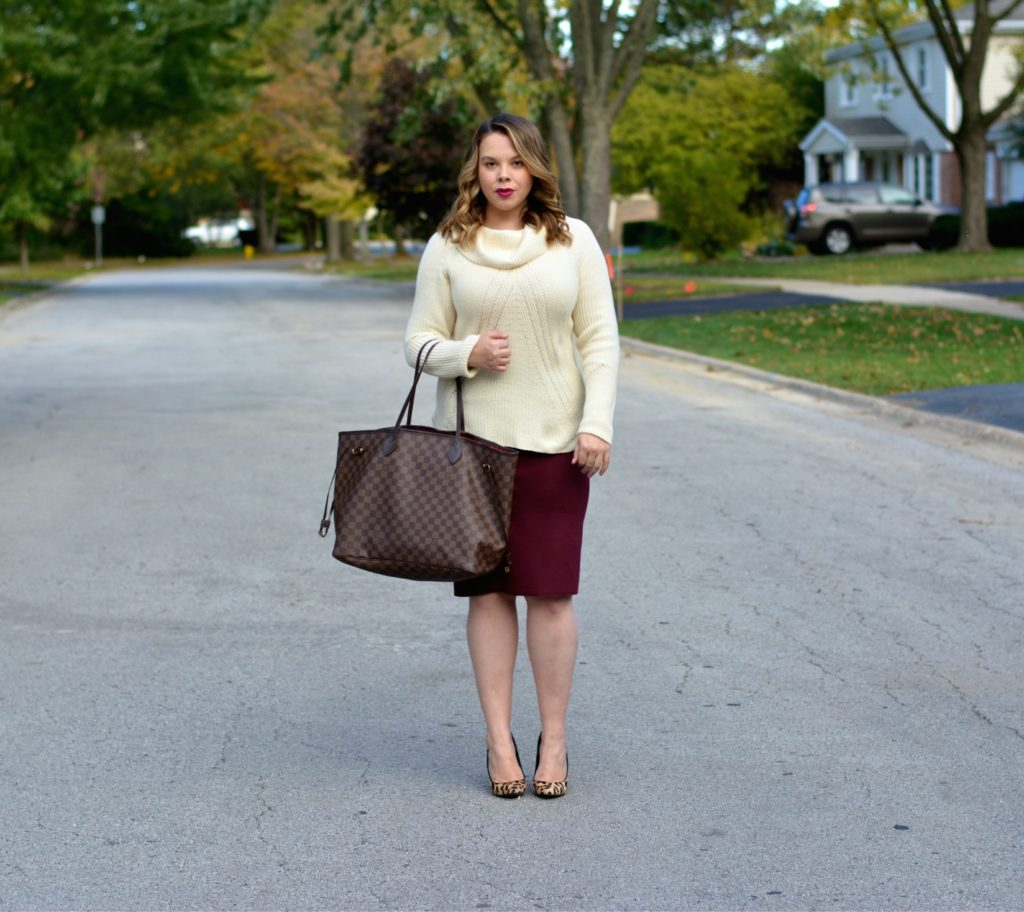 workwear wednesday- turtleneck & skirt 5