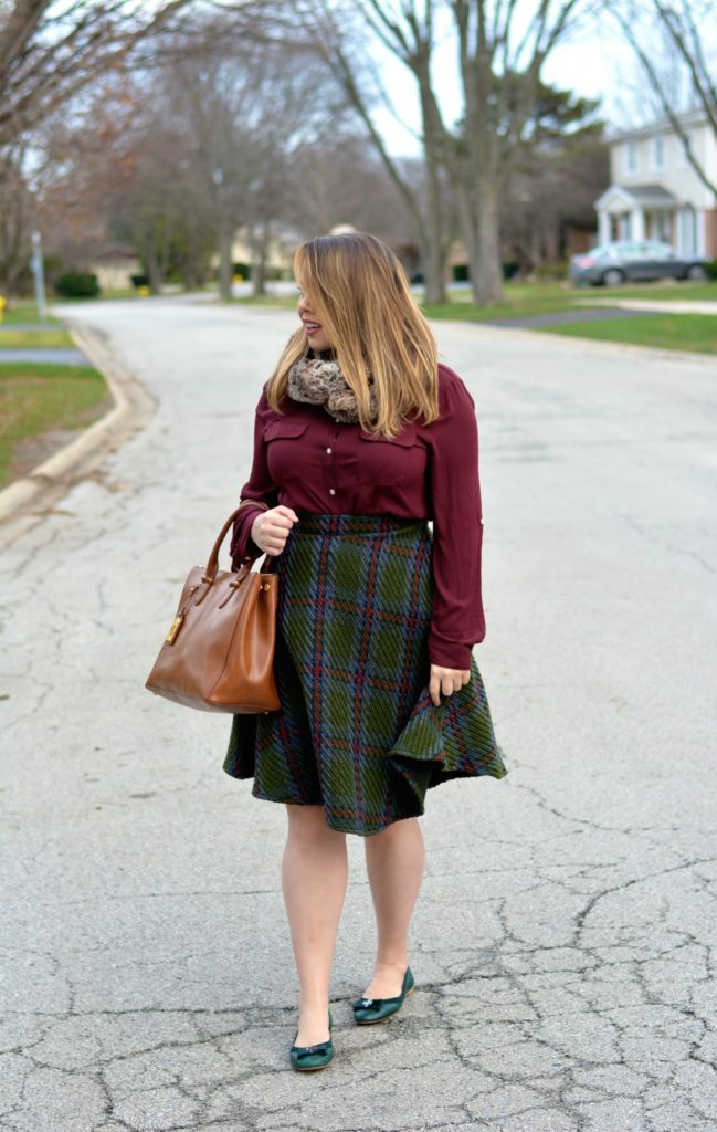 knit plaid midi 3