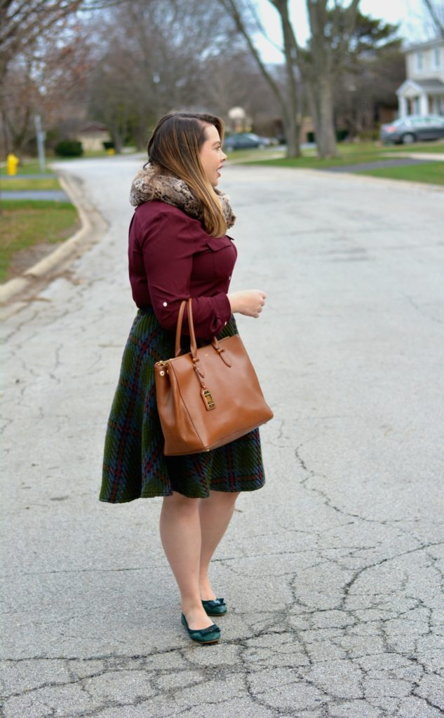 knit plaid midi 4