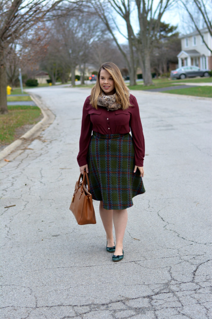 knit plaid midi 6