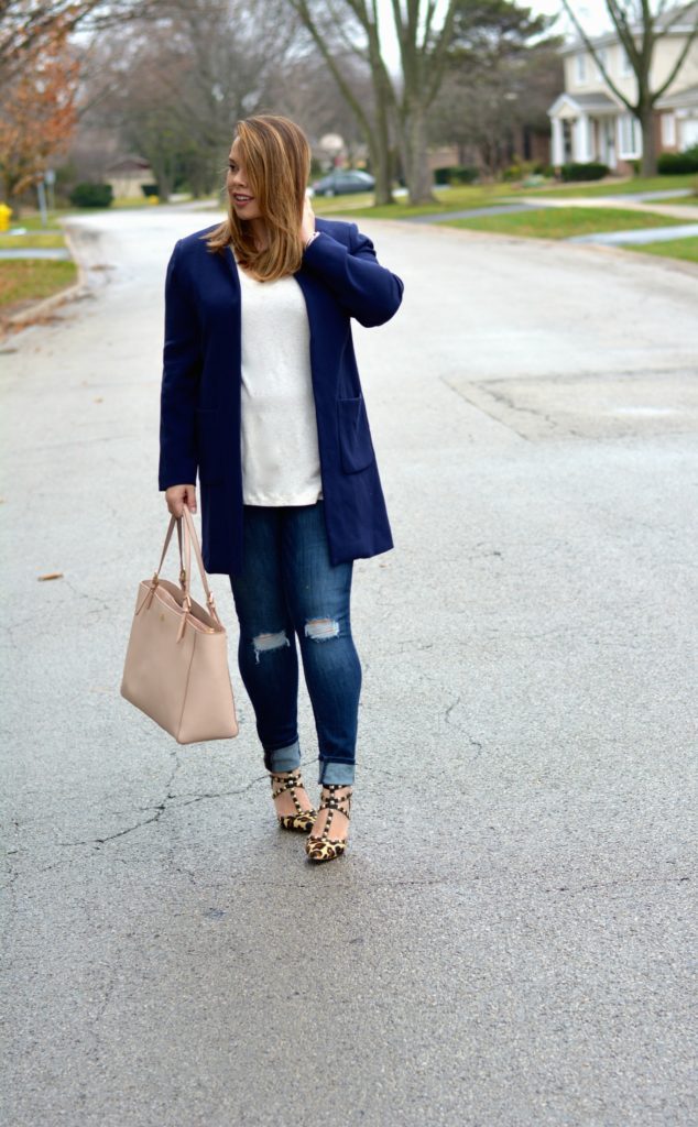 navy longline blazer - Version 2