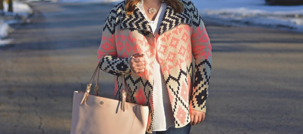 Aztec draped sweater 5