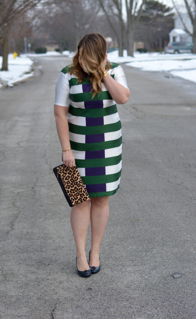 hunter & navy striped dress 3