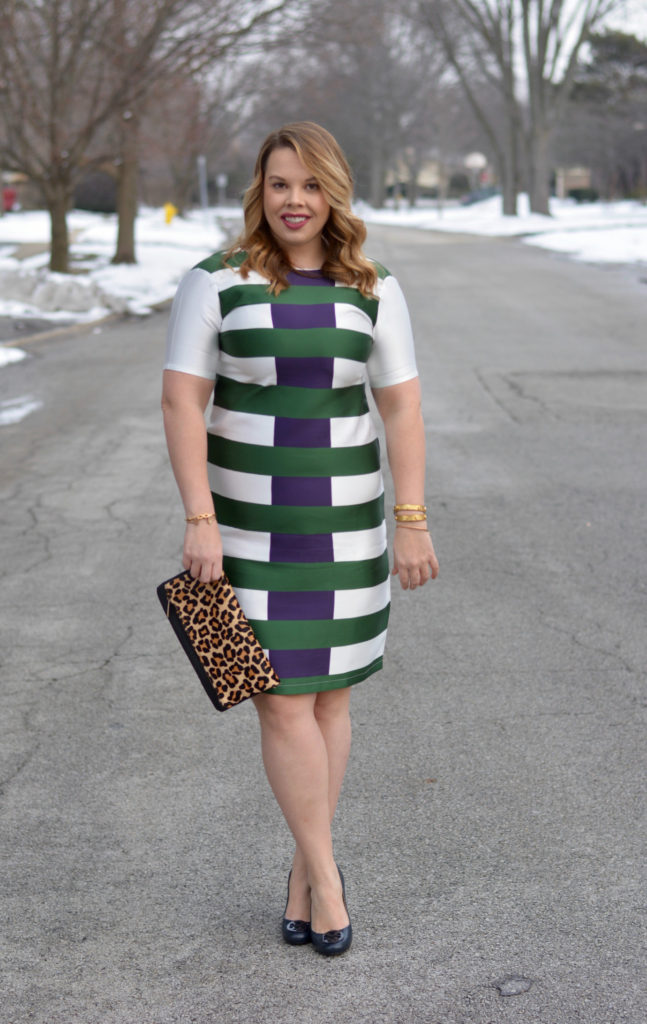 hunter & navy striped dress 5