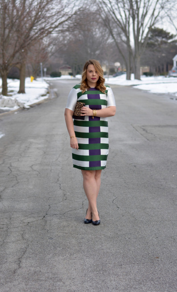 hunter & navy striped dress 6