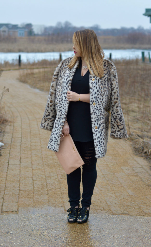 leopard faux fur coat 2
