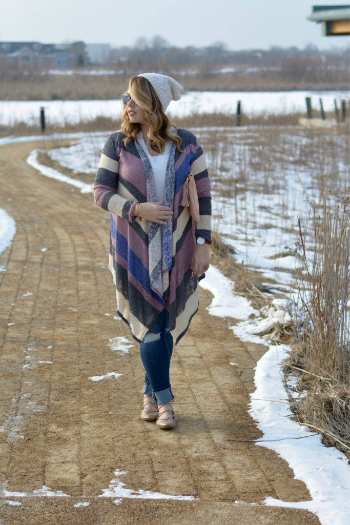 striped waterfall cardigan 7