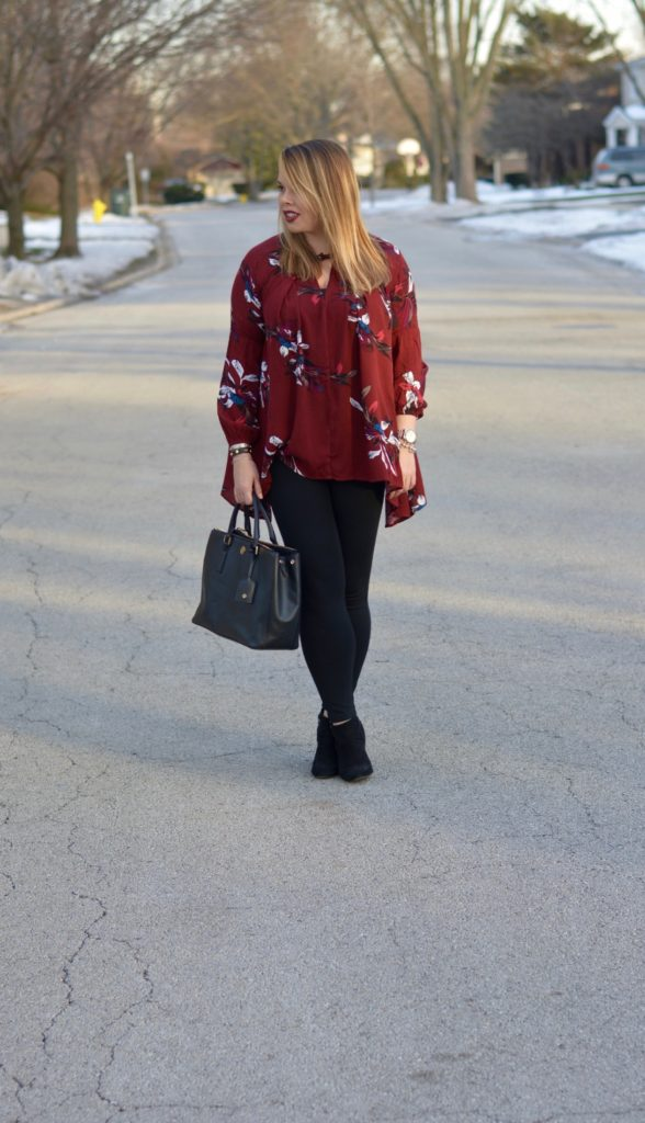 wine floral tunic 3