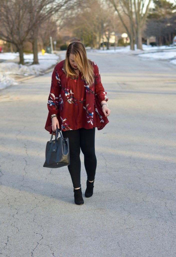 wine floral tunic 4