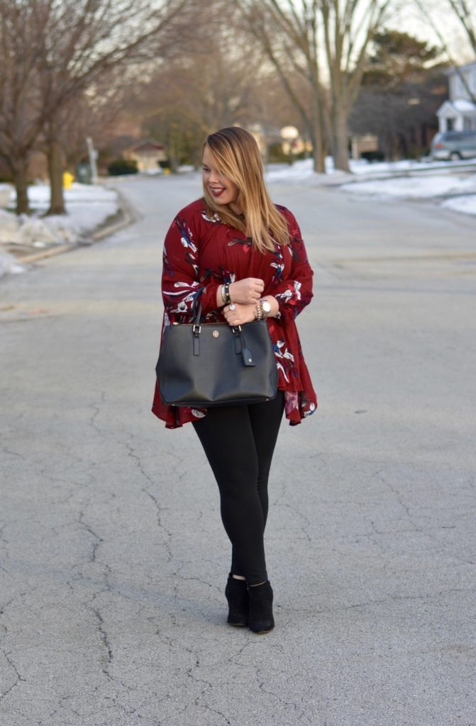 wine floral tunic 6