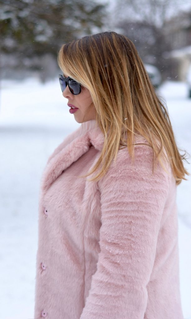 pink faux fur coat 2