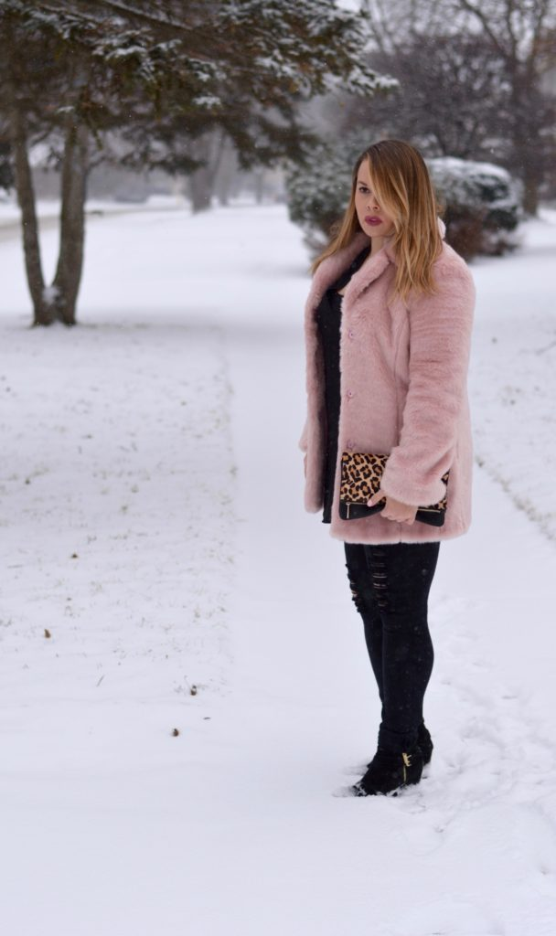 pink faux fur coat 4