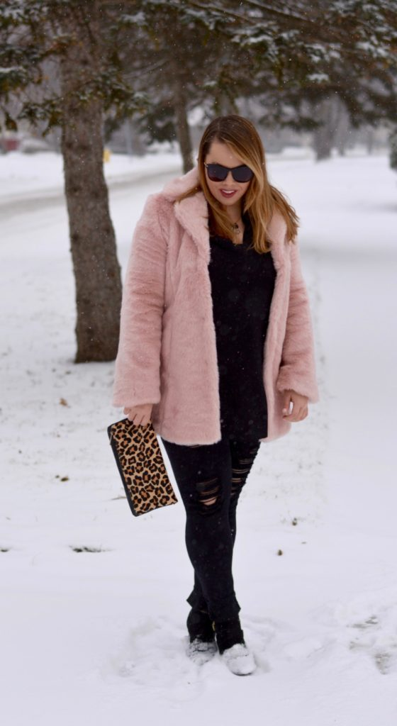 pink faux fur coat 5