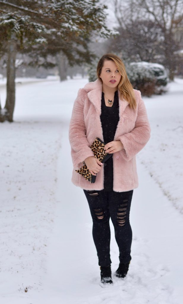 pink faux fur coat 6