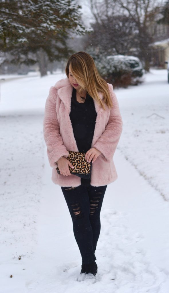 pink faux fur coat 7