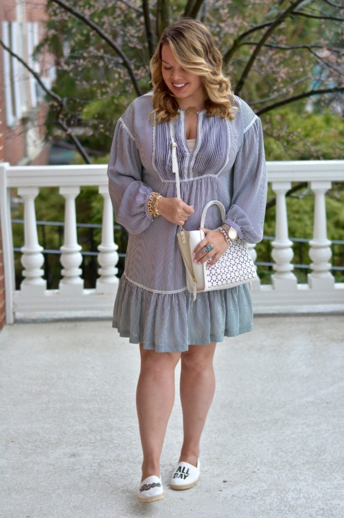 pinstripe shirtdress 4