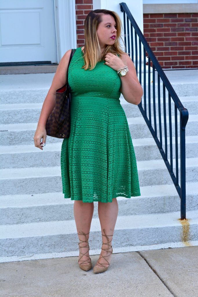 workwear wednesday- eyelet green dress 3