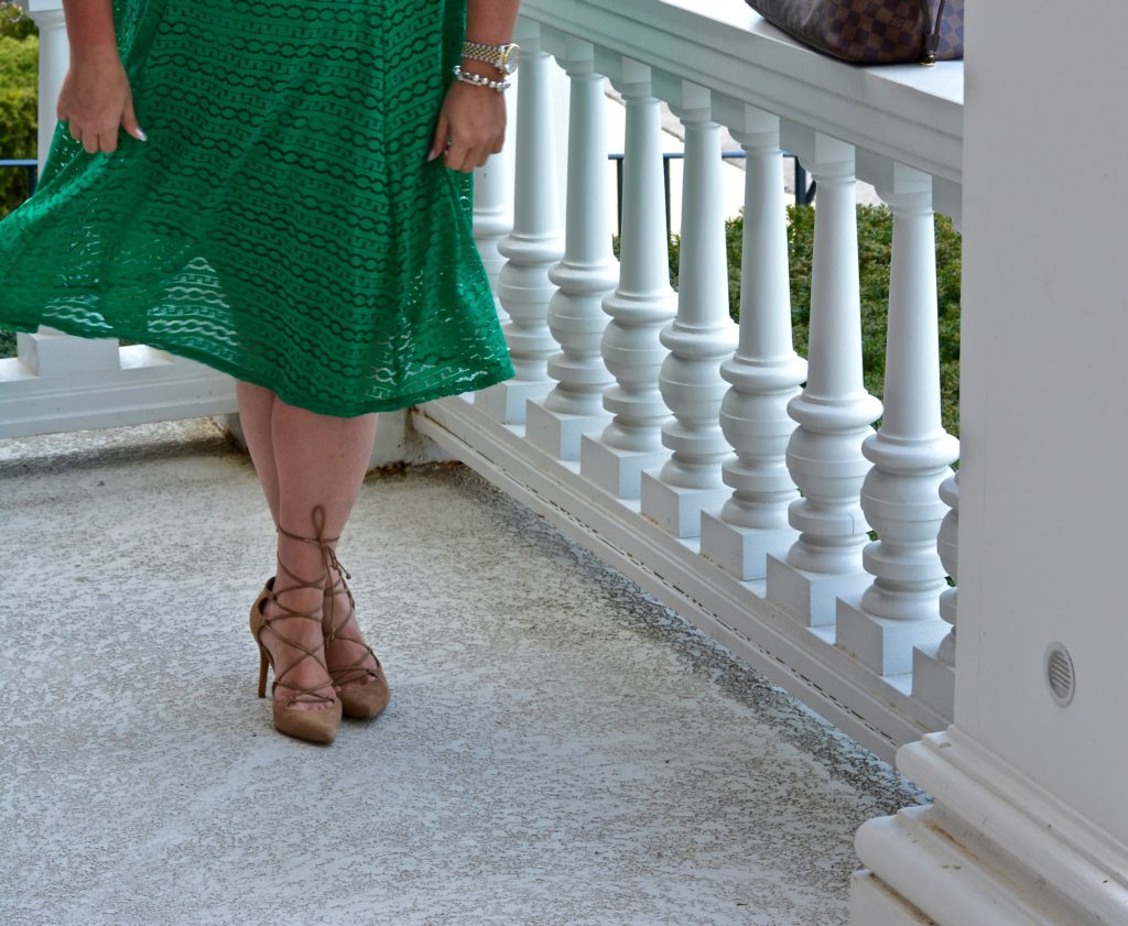 workwear wednesday-eyelet green dress 4