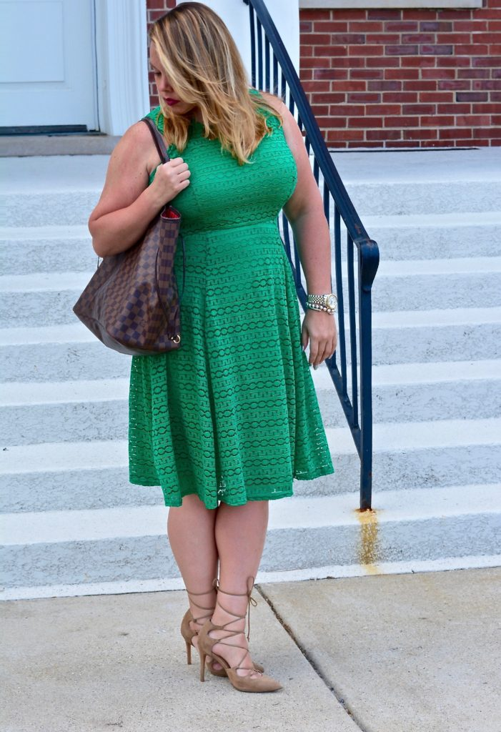 workwear wednesday-eyelet green dress 5