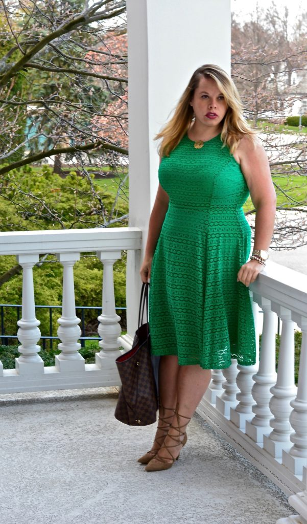 workwear wednesday-green eyelet dress 6