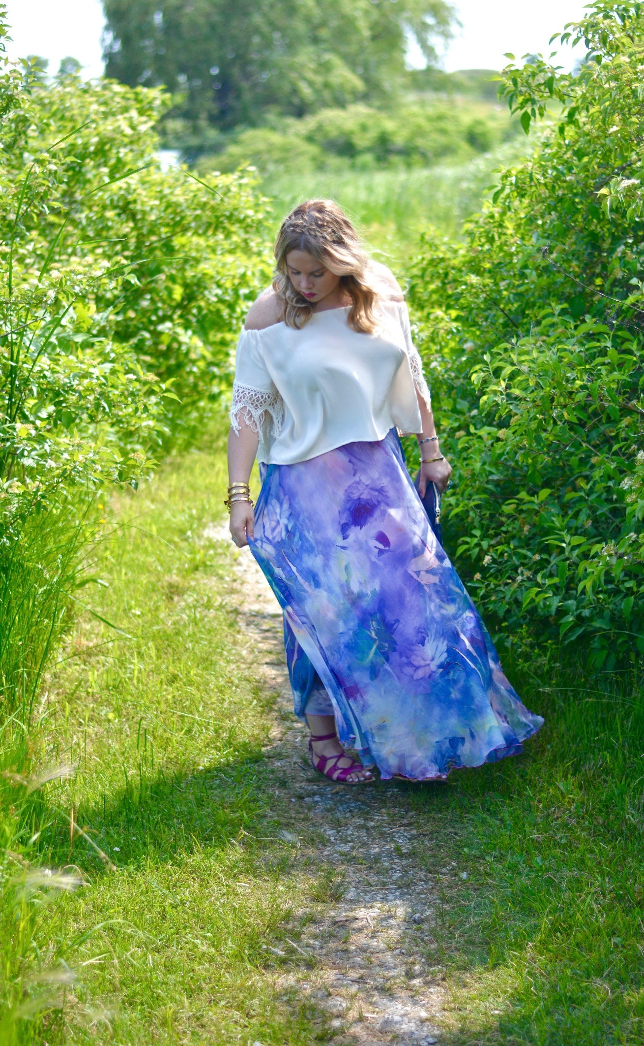 watercolor maxi skirt 2