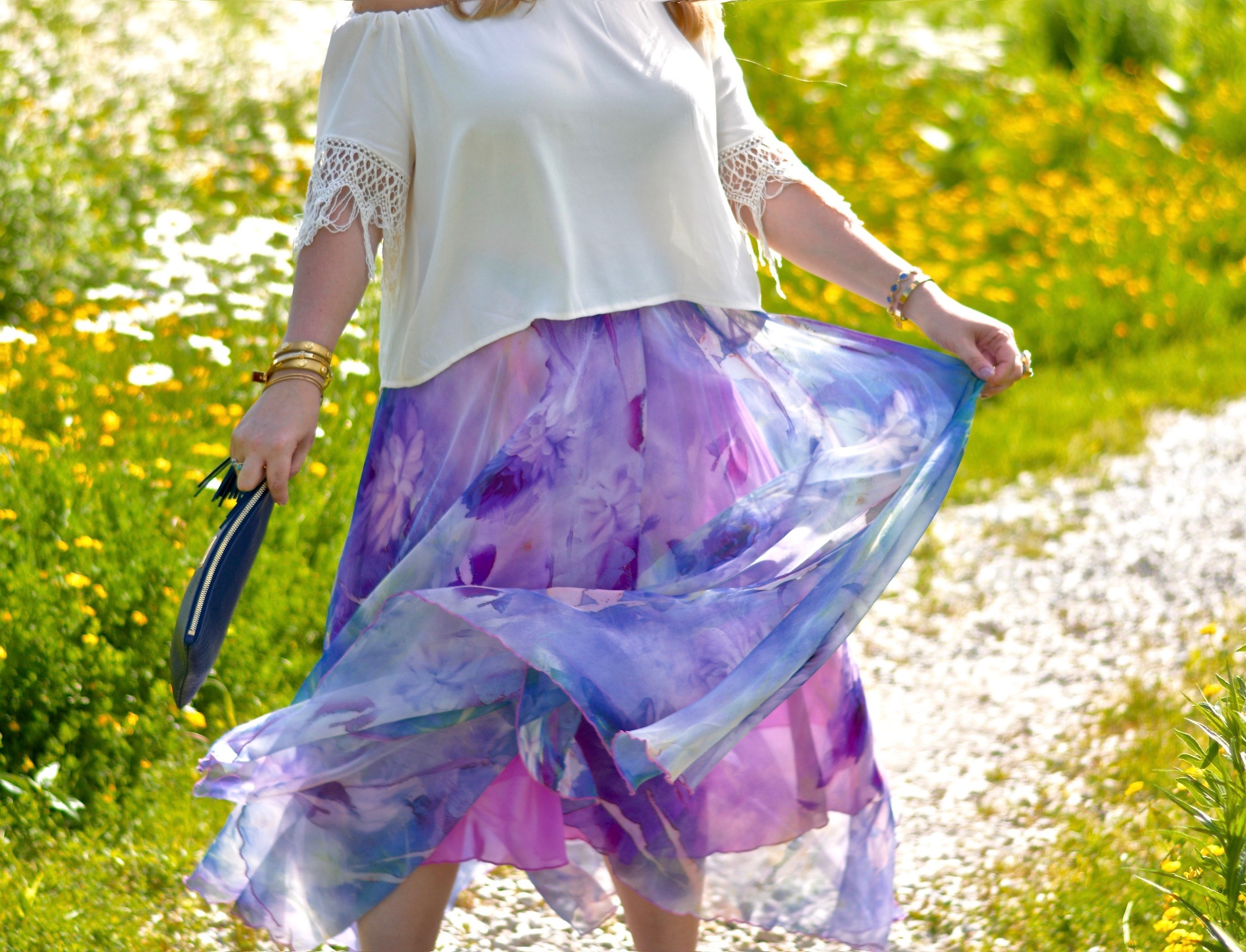watercolor maxi skirt 3