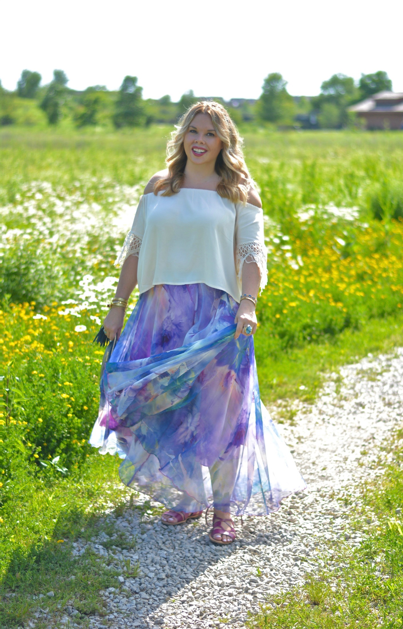 watercolor maxi skirt 4