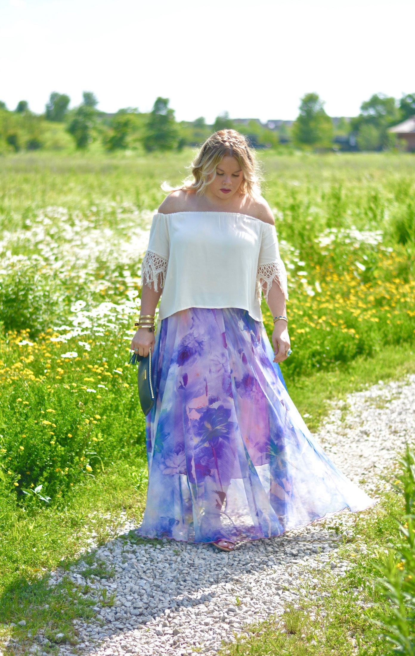 watercolor maxi skirt 5