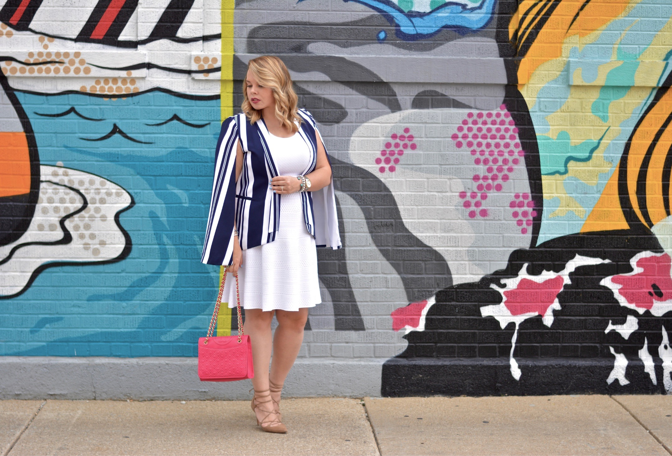 striped cape blazer 1