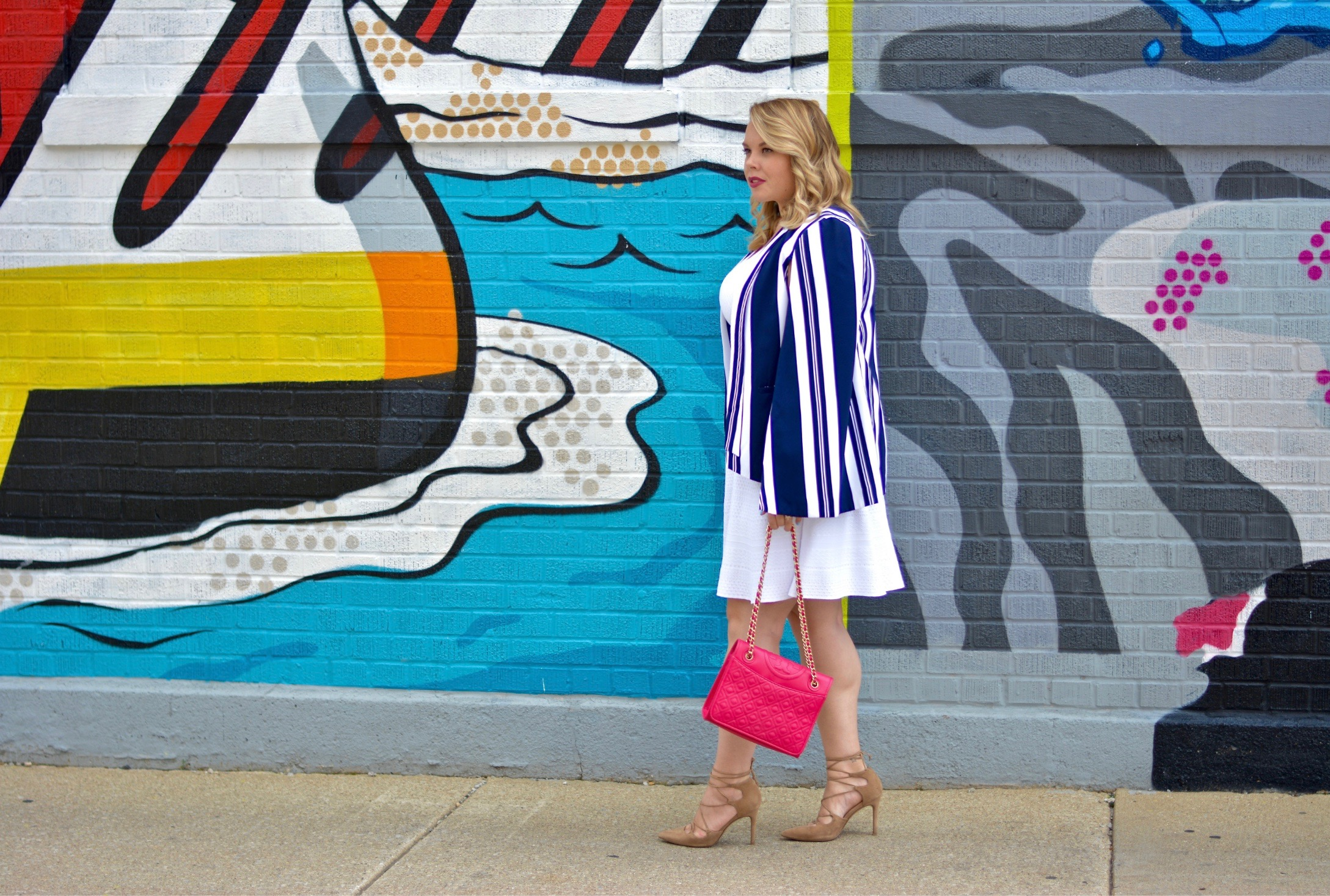 striped cape blazer 2