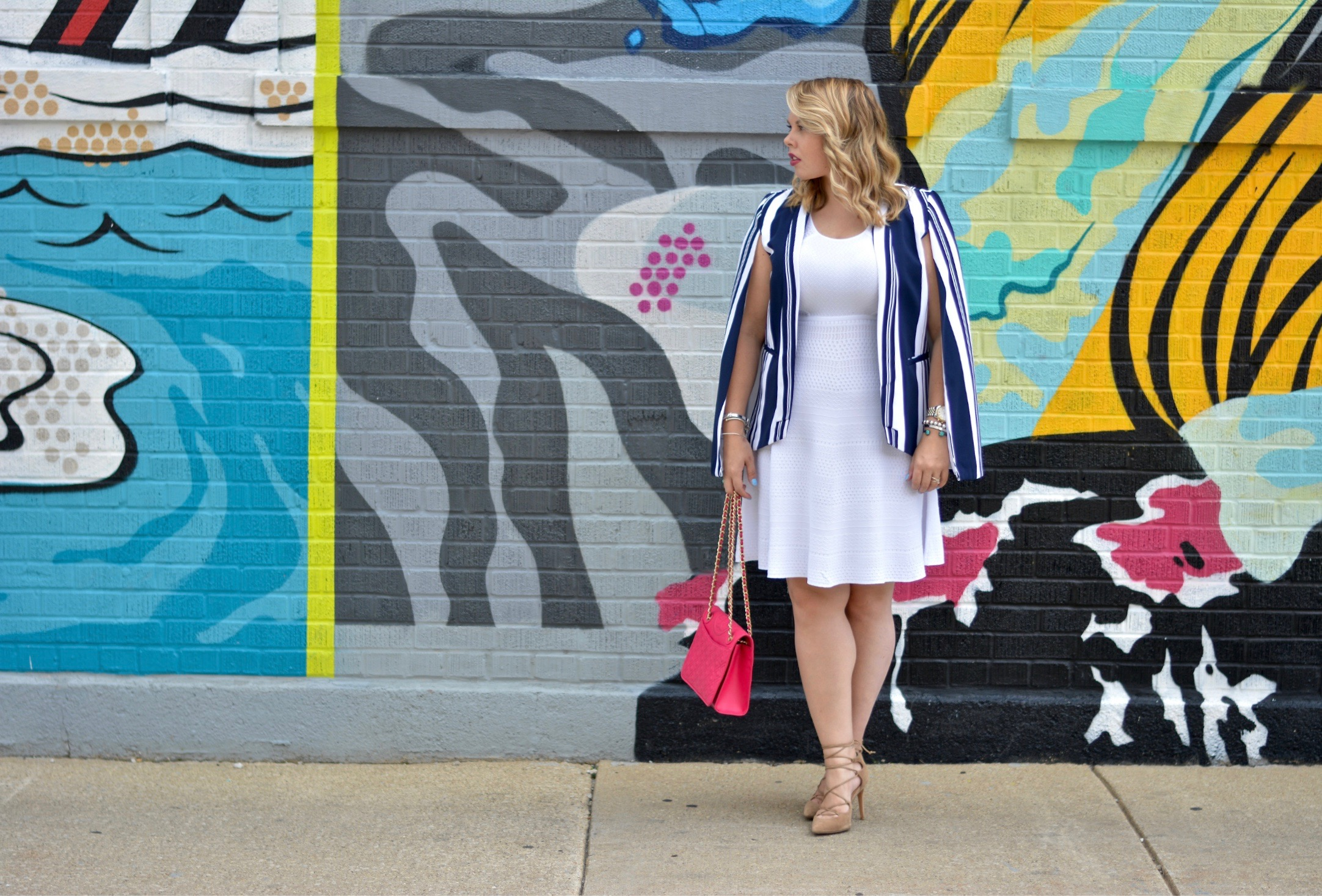 striped cape blazer 4