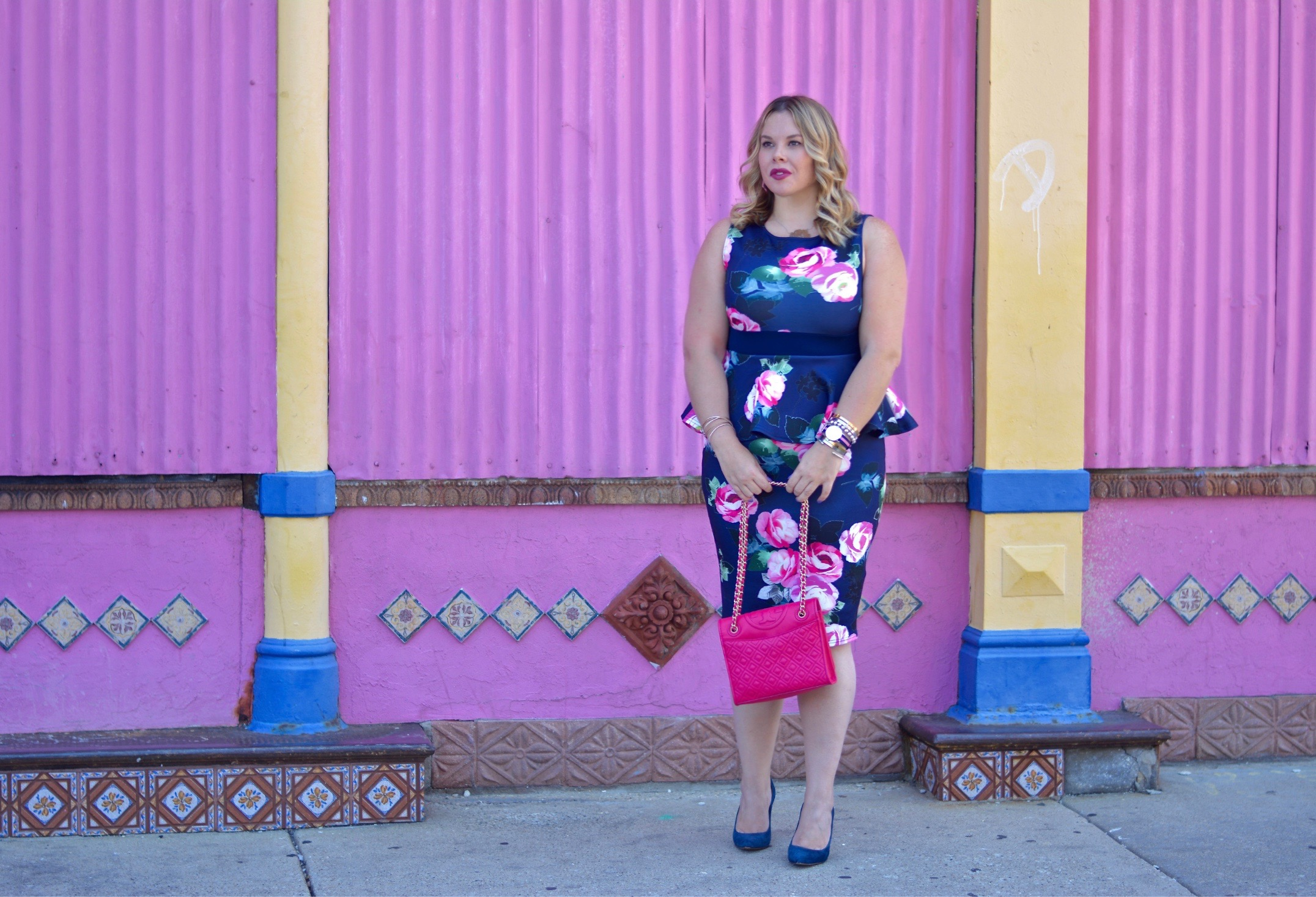 floral peplum dress 2