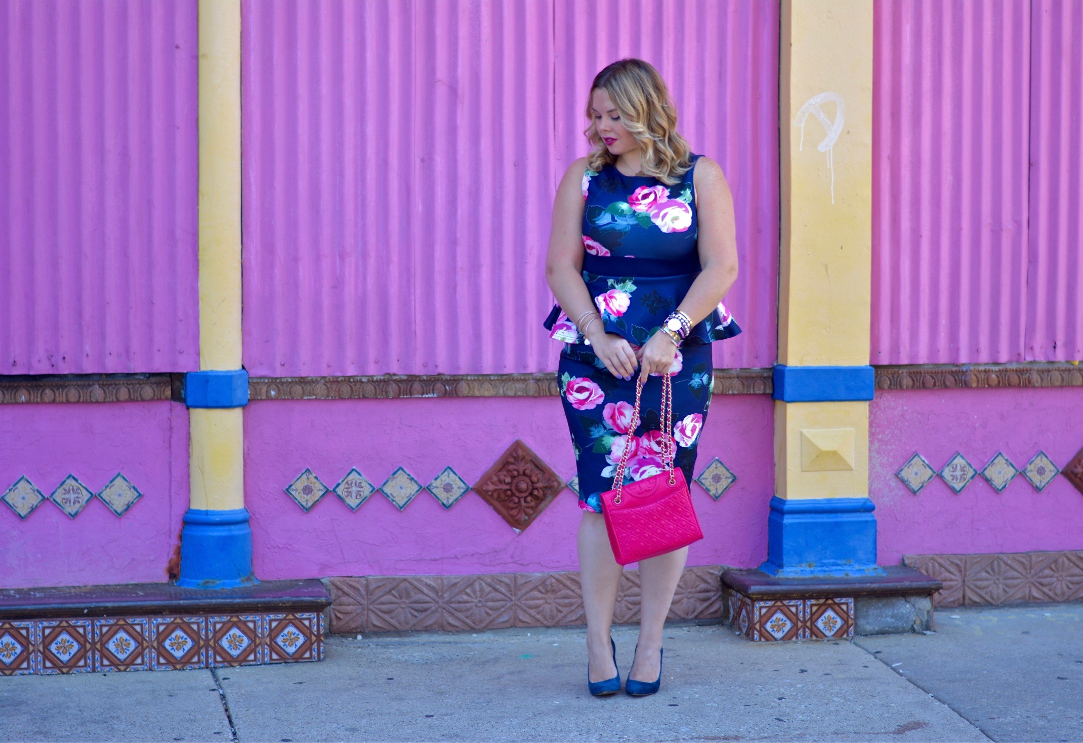 floral peplum dress 3