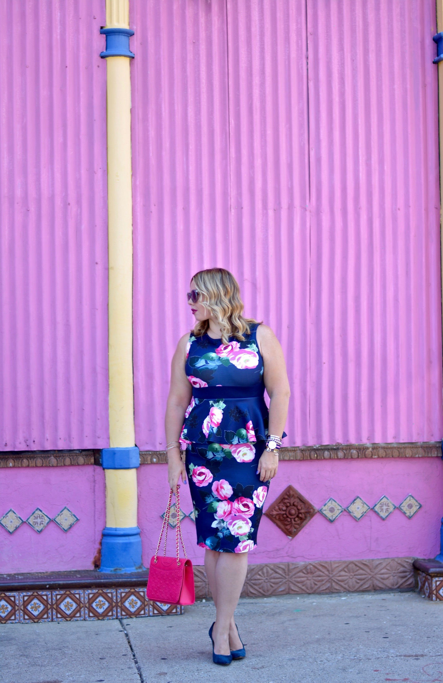 floral peplum dress 4