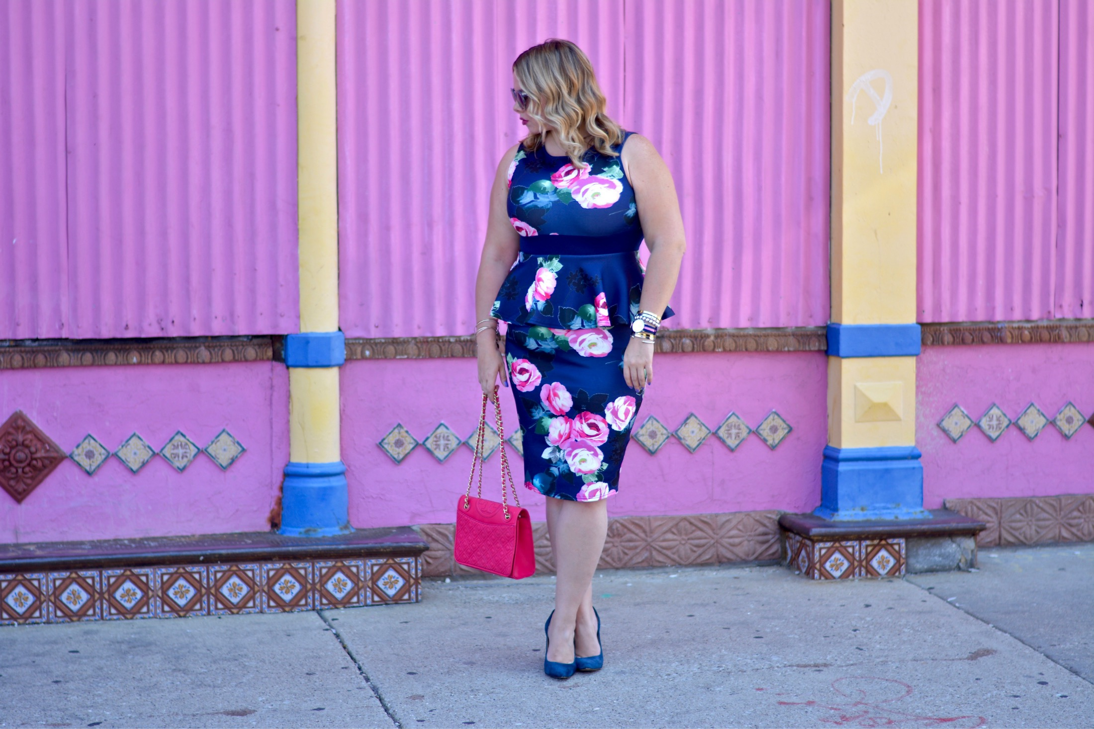 floral peplum dress 5