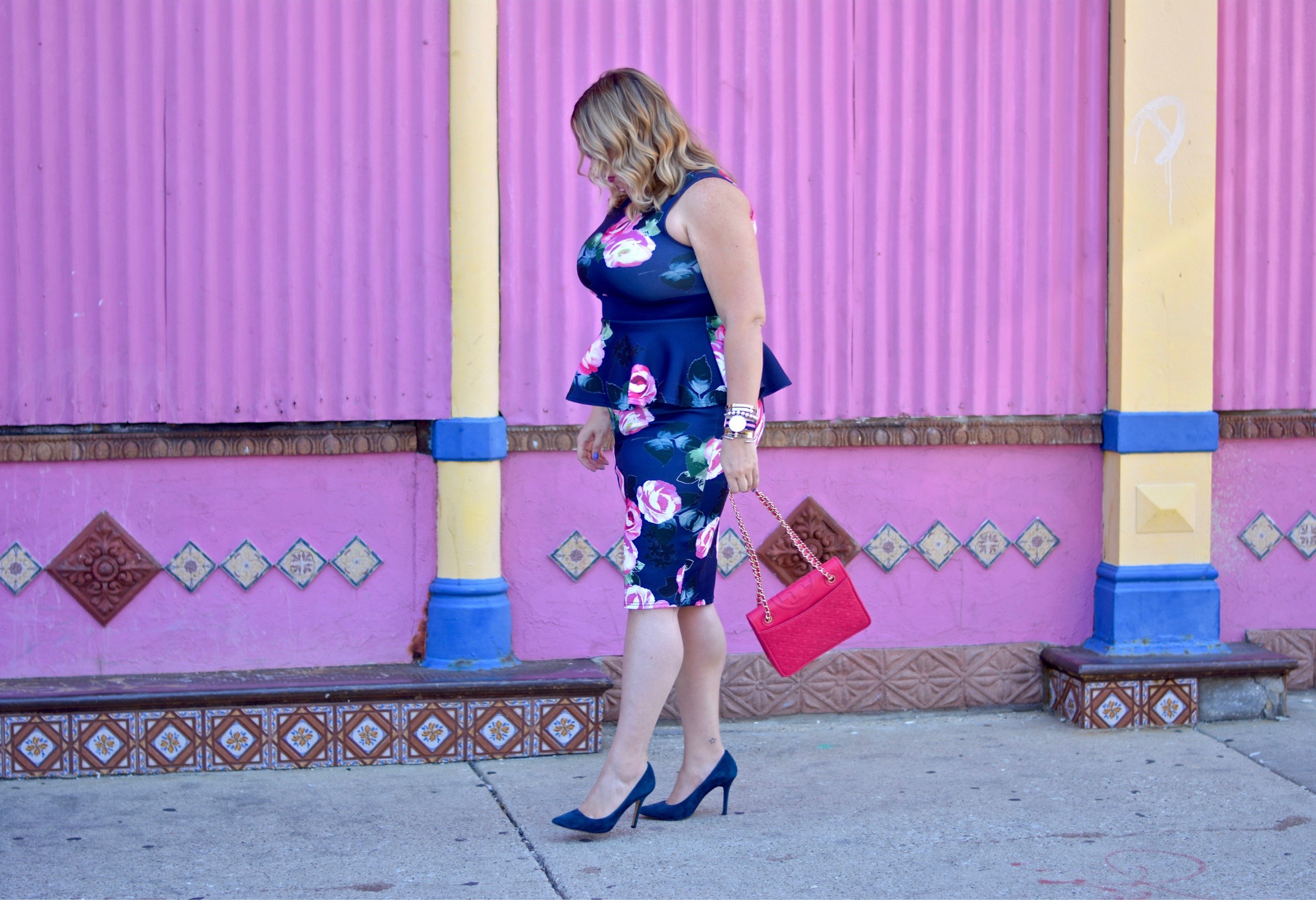 floral peplum dress 6