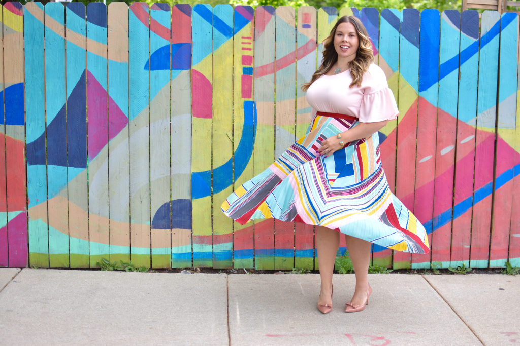 Workwear Wednesday: Colorblock Midi Skirt